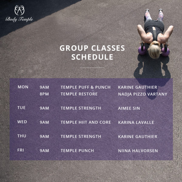 Group Classes (Oct)