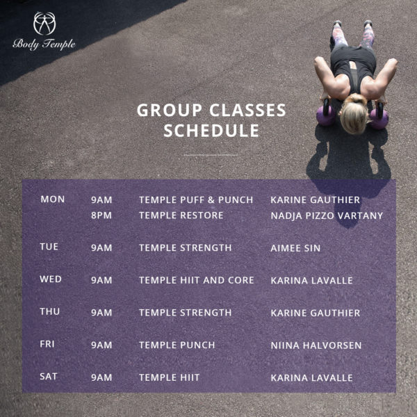 Group Classes (Sep)